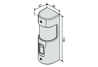 Abmessungen und Zeichnung der BFT ERIS A30 Lichtschranke