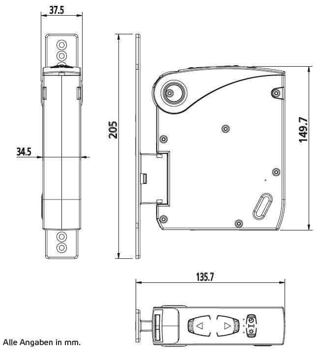 GW60-Abmessungen-Aufputzvariante
