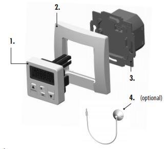 Lieferumfang der digitalen Unterputz-Zeitschaltuhr ST100 von Superrollo