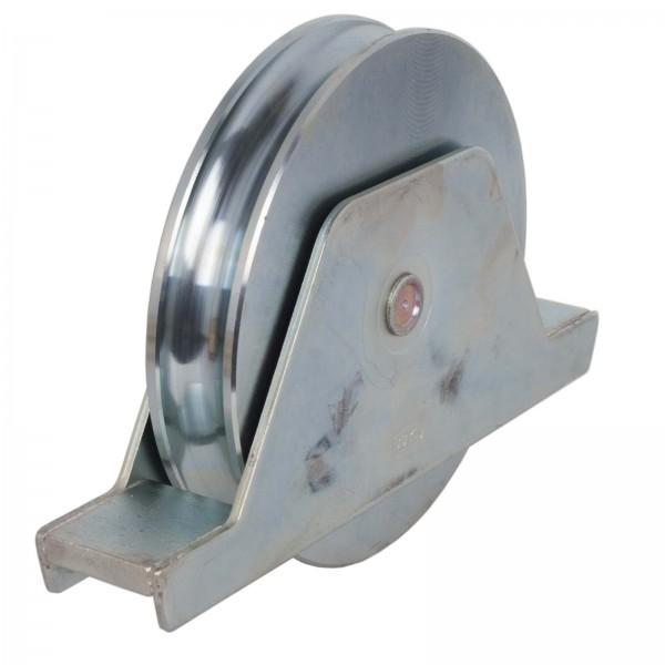 Laufrolle mit Anschweißplatte RN Innenstützplatte 160 mm