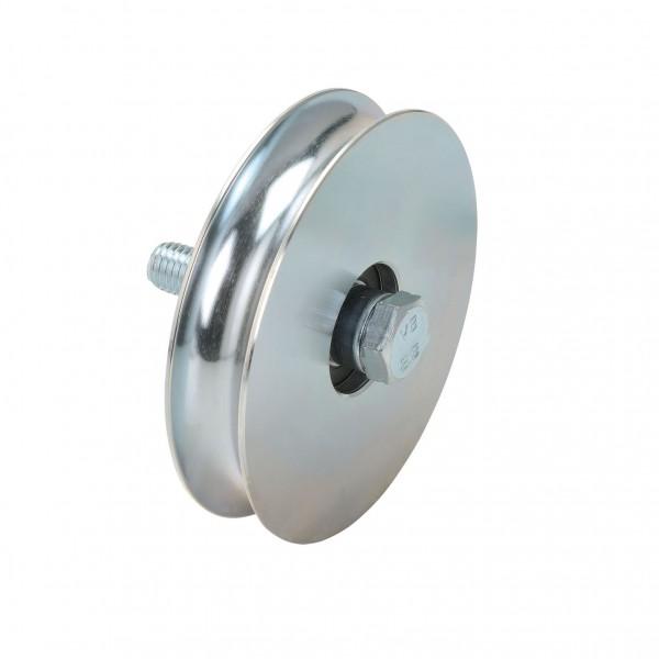Laufrolle mit Achsbolzen Ø 40 - 90 mm Rundnut Ø 16 mm
