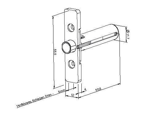 Zeichnung Entriegler und Fallenauswerfer
