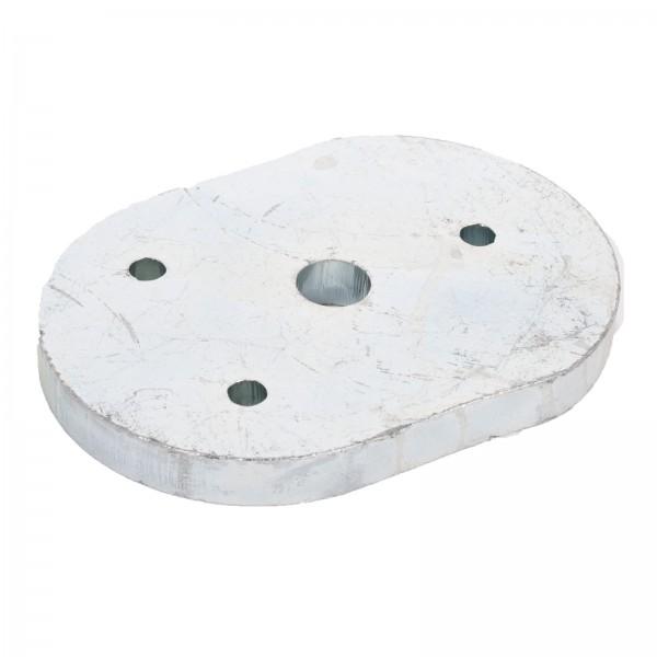 Zwischenplatte für Mittelanschlag zum verschrauben