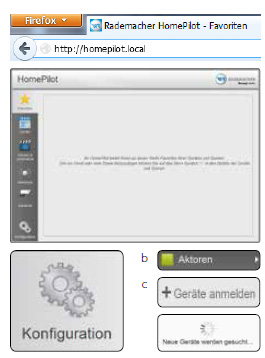 Benutzeroberfläche RADEMACHER HomePilot