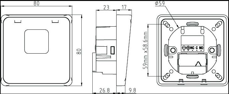 Zeichnung Lichtschranke LS4 UP