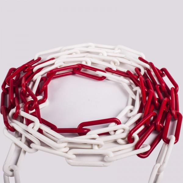 Absperrkette Kunststoff rot / weiß