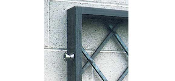 Distanzmuffe für Fenstergitter