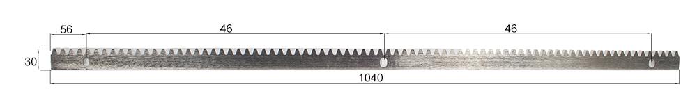 Zahnstange-Stahl-Abmessungen-Klein