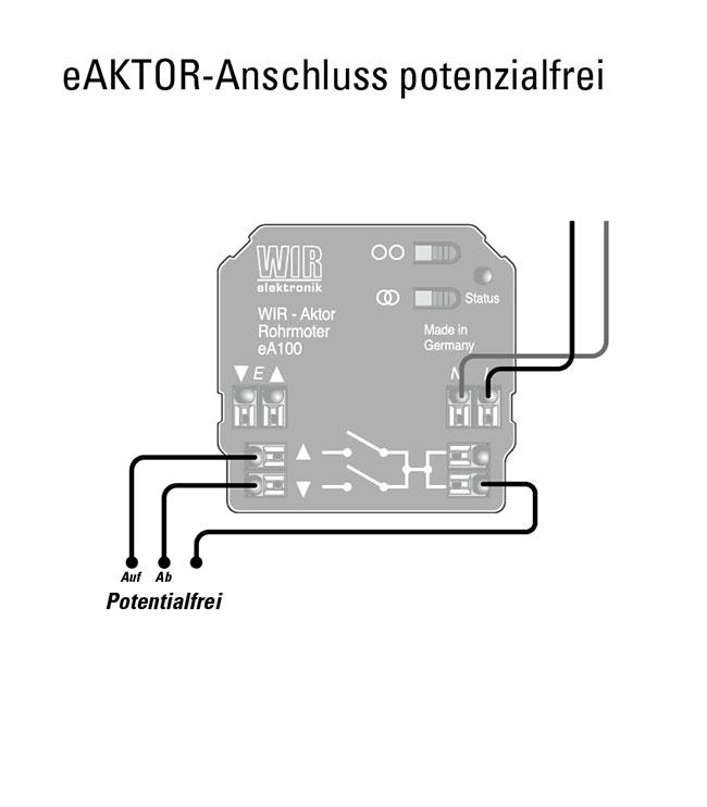 eA100 Anschluss potentialfrei