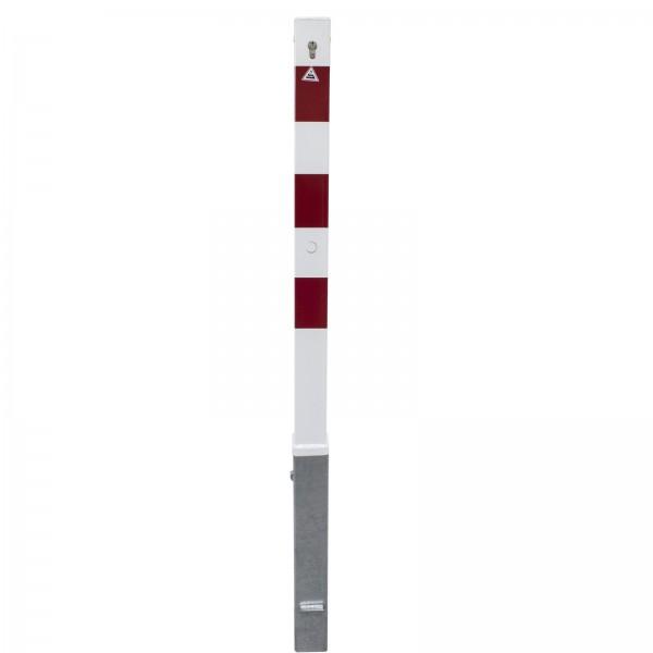 Absperrpfosten 70x70mm herausnehmbar mit Profilzylinderschloss