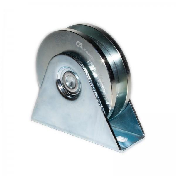 Laufrolle mit Anschraubplatte Ø 80 / 100 mm eckige Nut