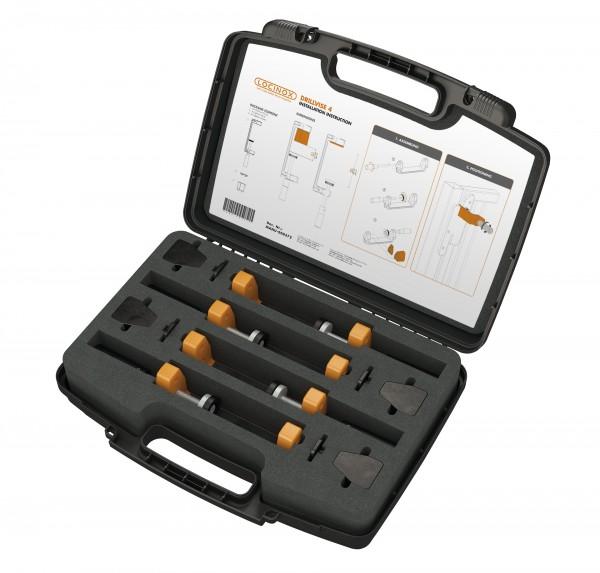 Werkzeugkoffer mit 4 Spannvorrichtungen DRILLVISE-4