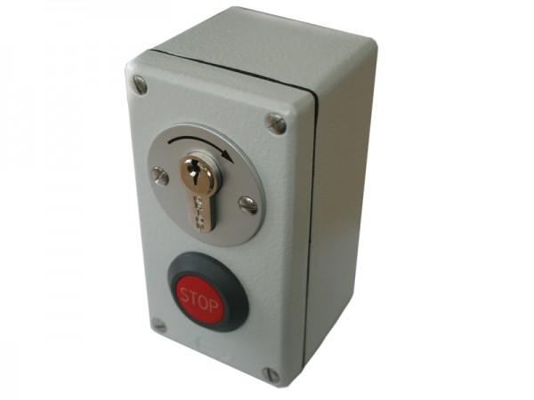 Schlüsseltaster mit Stoppfunktion Aufputz