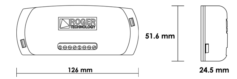 Abmessungen Roger R93RX12AU
