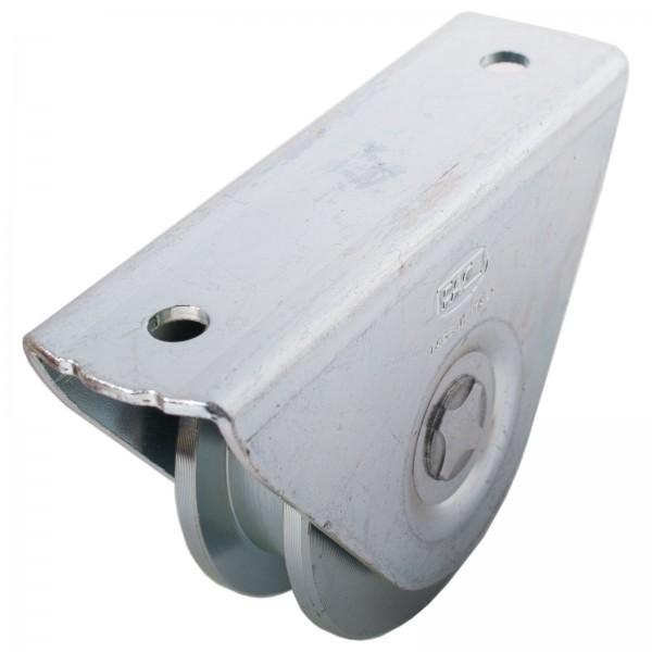 Laufrolle mit Anschraubplatte Ø 75 mm Eckige Nut Ø 16 mm