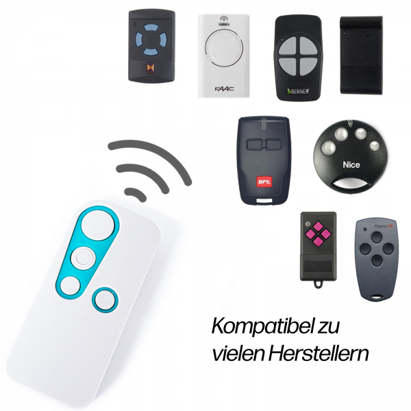 Universal Handsender 433,92-868,35 MHz Vielfrequenz