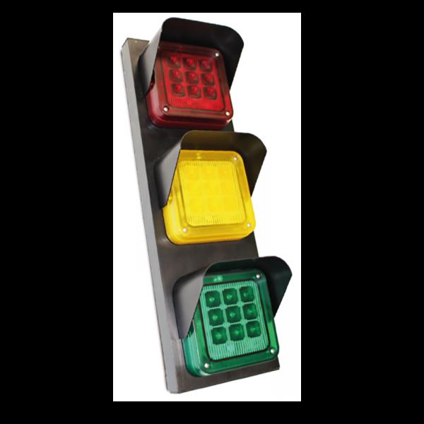 Traffic-3 LED-Ampel mit Metallgehäuse Rot/Gelb/Grün 24 Volt