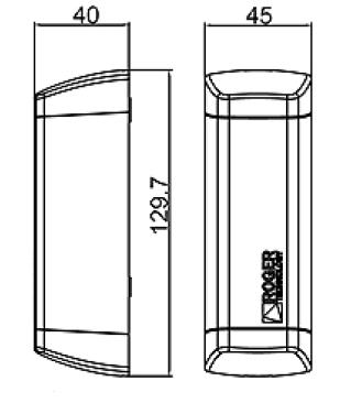 Abmessungen ROGER M90 Lichtschranke