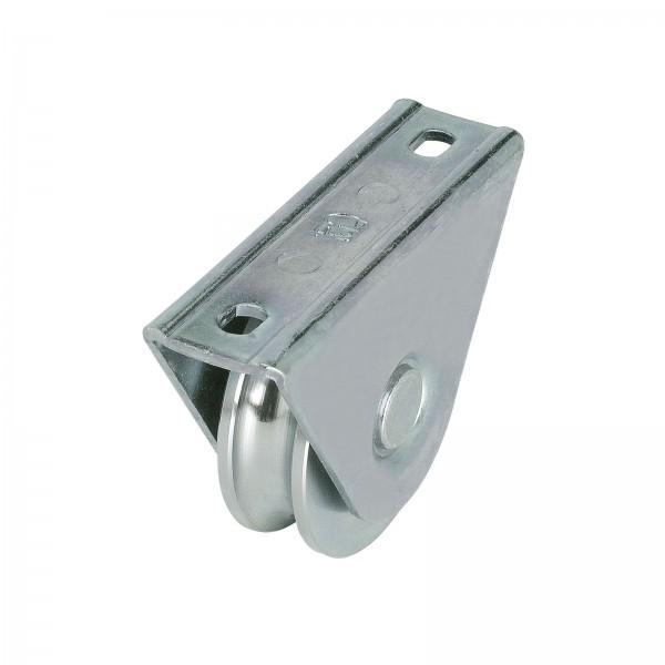 Laufrolle mit Anschraubplatte Ø80 / 100 mm Rundnut Ø 16 / 20 mm