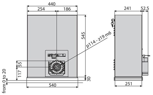 BFT SP3500 Zeichnung