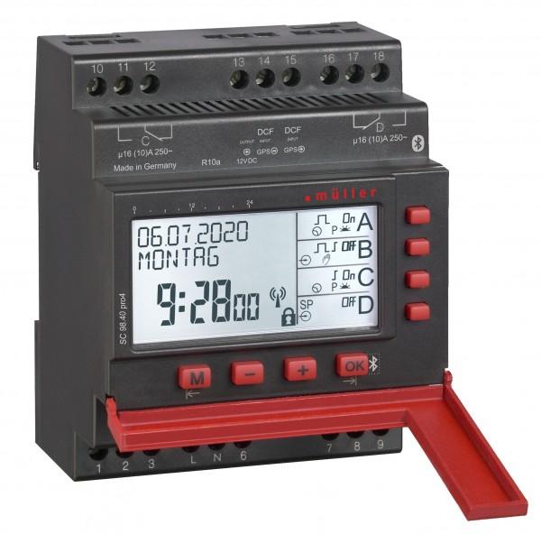 Digitale Schaltuhr 2-Kanal SC 98.20 Pro4 für Verteilereinbau