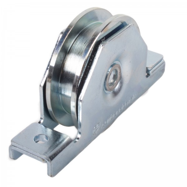 Laufrolle mit Innenstützplatte Ø 90 mm / 100 mm eckige Nut Ø 16 mm