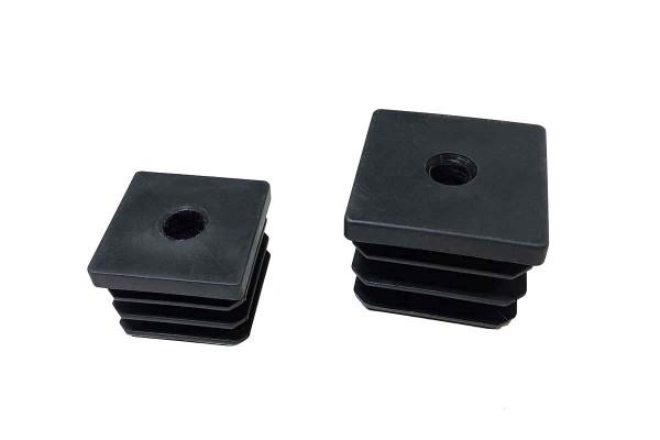 Rohrstopfen Kunststoff für Scharniere, 40x40 mm / 50x50 mm