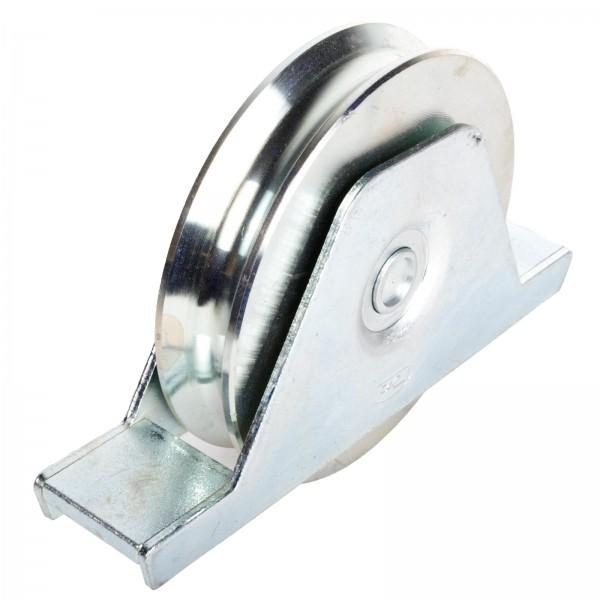 Laufrolle mit Innenstützplatte Ø 120 mm Rundnut Ø 16 mm