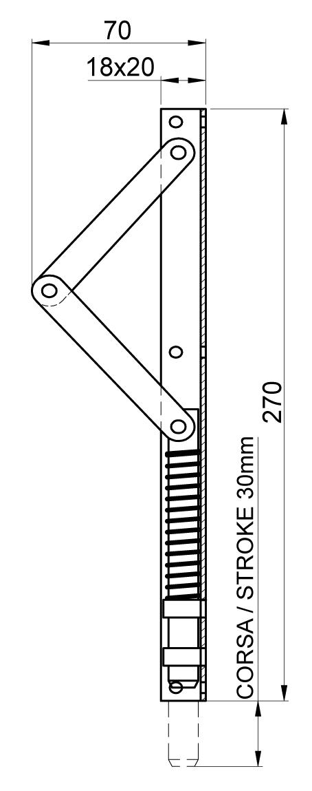 Zeichnung der Bodenverriegelung