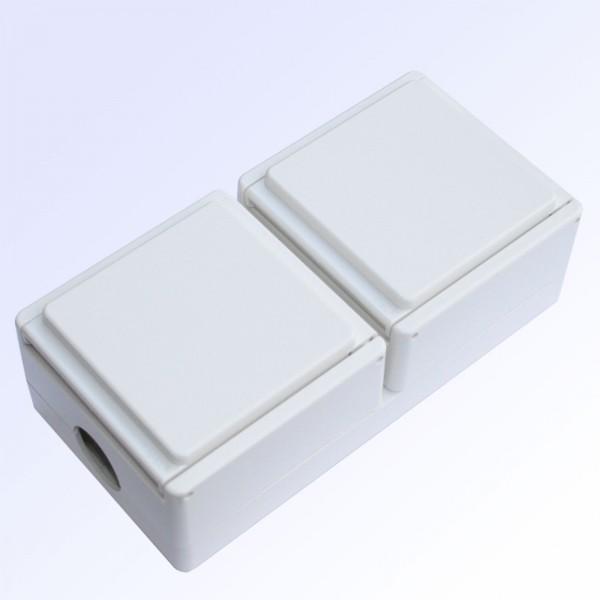 Kombination Schalter - Steckdose ultraweiss