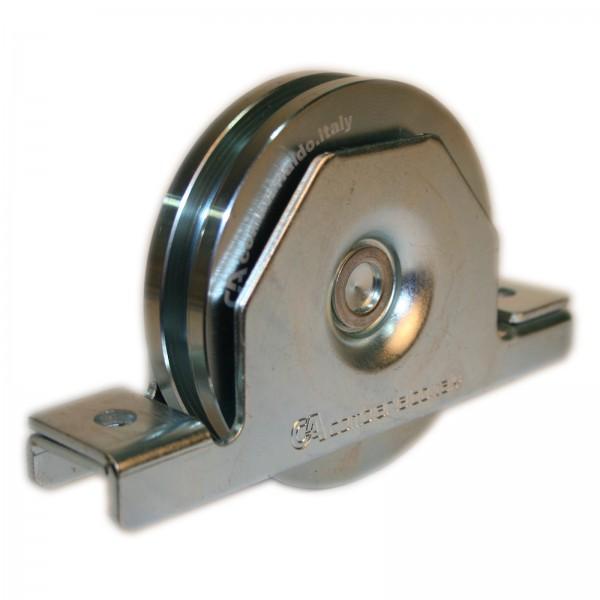 Laufrolle mit Innenstützplatte Ø 90 - 120 mm eckige Nut Ø 8 / 16 mm