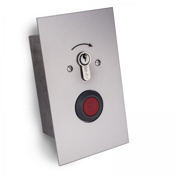 Schlüsseltaster mit Stoppfunktion