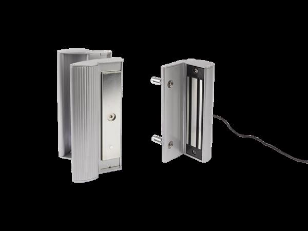 LOCINOX Aufbau-Magnetschloss mit integrierten Griffen MAG 3000-Silber