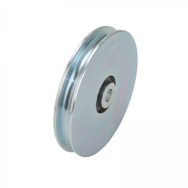 Seilrolle mit Lagerschalen Stahl Ø120/100/60 mm