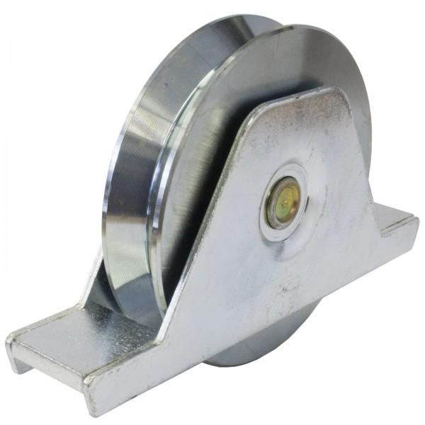 Laufrolle Keilnut mit Innenstützplatte Ø 75 mm