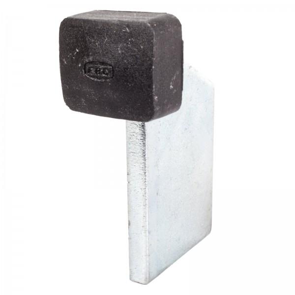 Toranschlag mit rechteckigem Gummipuffer zum Aufschweißen
