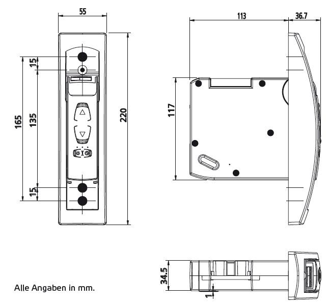 GW60-AbmessungenUnterputzvariante
