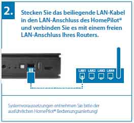 Anschluss des HomePilots 2