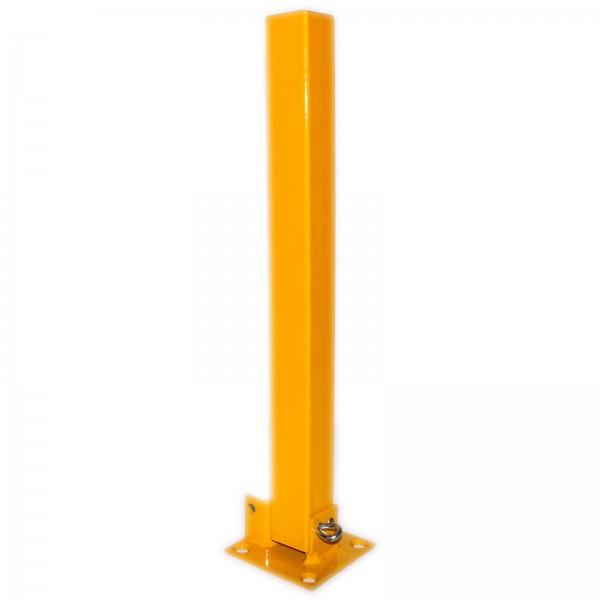 Sperrpfosten umklappbar 560 x 50 x 50 mm gelb