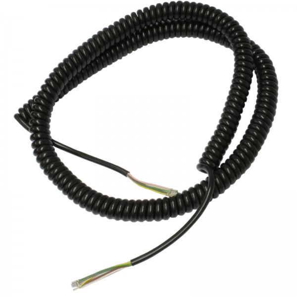 Spiralkabel 6-polig 6x0,25mm²