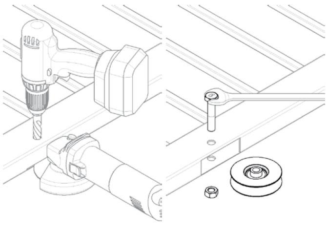 Montage-Laufrollen-mit-Bolzen