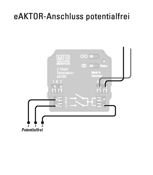 eA200 Anschluss potentialfrei