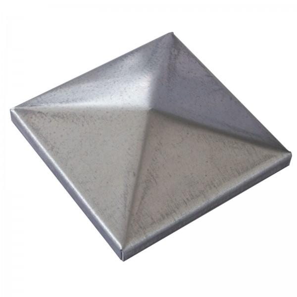Pfostendeckel 60x60 mit Rand verzinkt Trapez