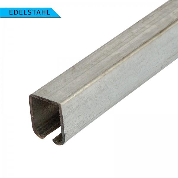 Laufschienenprofil 33x34 mm bis 75 kg EDELSTAHL 6m