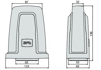 Zeichnung der BFT RADIUS-IPNOS Warnblinkleuchte