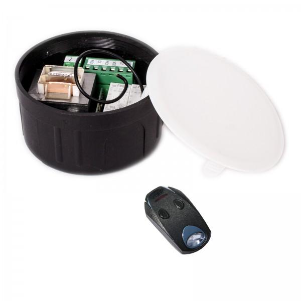 DTM Funkempfänger-Set 2-Kanal Handsender, 433 MHz, 230V Unterputz