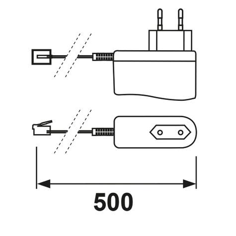 Abmessungen AXA Adapter Remote weiss