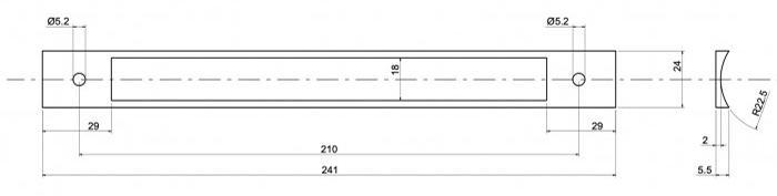 Abmessungen Adapterplatte für Einsteckschlösser