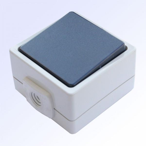 Schalter 1-fach grau/blau
