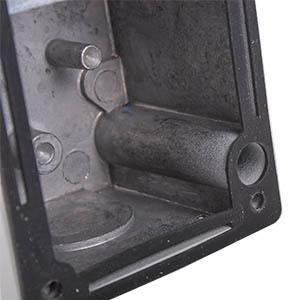 Schlüsselschalter mit Gummidichtung